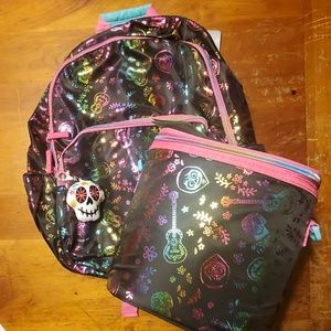 Disney coco backpack and lunchbag set